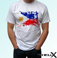 Drapeau philippin - t-shirt blanc veste design croate t-shirt en cuir denim vêtements camiseta cattt coupe-vent t-shirt