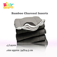 Babyfriend Reutilizable Baby Nappies Bamboo Charcoal Liner Pañal Pañal Insertar Para Paño Del Bebé Pañal Pañal Lavable 5 Capas 9pcs