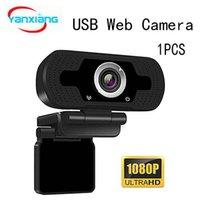 En Stock USB HD 1080P cámara de 2MP ordenador portátil de gama alta videollamada Webcams cámara con reducción de ruido del micrófono YX-SXHD