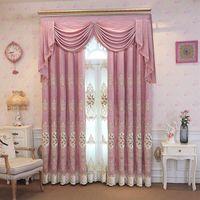 Fyfuyoufy top European light velvet вышитые шторы для виллы гостиной высококлассного украшения окна спальни отеля