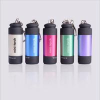 светодиодный фонарик Открытый многофункциональный светодиодный фонарик мини-пластик яркий USB аккумуляторная брелок лампа водонепроницаемый портативный свет YSY194-L