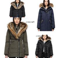 Dış giyim ceket giyim Toptan Ünlü Modacı Casual Aşağı Ceket Aşağı Coats Kadın Açık Kürk Yaka Sıcak Tüy Kış Coat