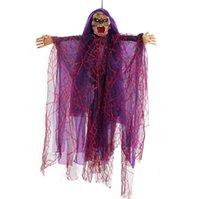 Halloween Hanging Witch Dolls Voice Control Prop Animated Gh...