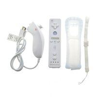 내장 모션 플러스 무선 원격 게임 패드 컨트롤러에 대한 Nintend의 Wii Nunchuck를 들어 Nintend Wii 리모콘 CONTROLE 조이스틱 조이패드