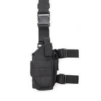 Pierna ajustable pistolera táctica pierna de la gota bolsa de Airsoft de la pistolera de la pierna derecha Pistola funda de pistola Pistola titular Diestros
