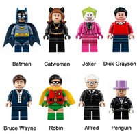 DC Super Hero Building Blocks Toy Batman Joker Catwoman Dick Grayson Bruce Wayne Robin Alfred Pinguim Mini Action Figure