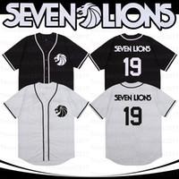 Sieben Löwen Baseball Jersey Sänger 19 Männer weiße schwarz genähte Modeversion Diamond Edition-Trikots