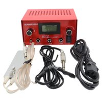 الوشم التيار الكهربائي أسود / أحمر / مجموعة وحدة فضية رقمية مزدوجة العرض LCD الوشم الطاقة مع التوصيل الحبل كليب دواسة القدم الحرة الشحن