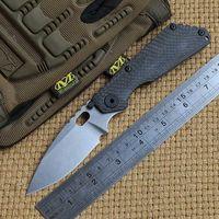 DICORIA SNG cuchillo plegable Arandelas de cobre cuchilla D2 que portan la fibra de carbono de camping titanio caza cuchillos de la fruta herramientas al aire libre EDC