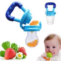 Baby-Beißring Nippel Obst Lebensmittel Silicona Pacifiers Säuglinge Silikon Beißringe Sicherheits Feeder Biss Lebensmittel Beißring 4 Farben M1179