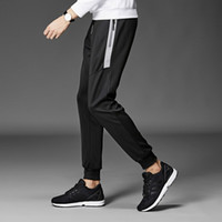 Big homens e alto shirring Cordão Jogging Sweatpants com Plano Side Zipper Pockets Moda Jogger calças Plus Size L-9XL Preto Cinzento