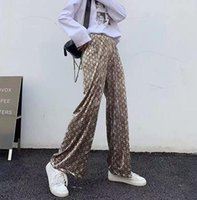 The Latest Design Is Velvet Drooping Wide Leg Pants For Women's Autumn Winter Loose Pants Fashion Straight Tube Stretch Waist Casual Pants