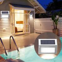 3LEDs 태양 빛 스테인리스 스틸 태양 에너지 정원 빛을 방수 옥외 에너지 절약 램프 점화 코