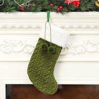 Tricottare lana natale stoccaggio bianco verde rosso albero rosso ornamento maglia santa regali borse natale calza calze sospese cca2771