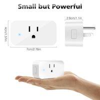 Smart Wifi Sockets Switch sans fil rond US Plugs APP Télécommande Prise de sortie Commutateur de synchronisation pour Smartphones Android IOS Domotique
