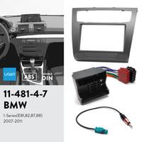 UGAR 11-481 Fascia Kit / Fascia Frame + ISO Harness + Antenna Adapter for BMW 1 시리즈 (E81, 82, 87, 88) 2007-2011