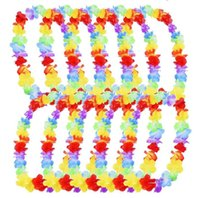 200Pcs lot Hawaiian Flower leis Garland Necklace birthday ju...