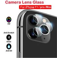 عودة الكاميرا عدسة شاشة حامي 2.5D الزجاج المقسى فيلم واقية لفون 12 ميني 11 برو ماكس XR XS X 6 7 8 زائد مع مربع التجزئة