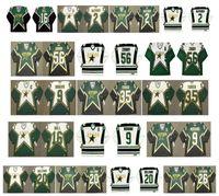 Maglia Dallas Stars vintage 56 SERGEI ZUBOV 35 Marty Turco 9 Mike Modano 16 BRETT HULL 2 DERIAN HATCHER 20 ED BELFOUR LEHTINEN Hockey retrò