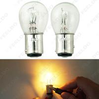10pcs 24 V Bay15D 1157 P21 / 5W S25 Car Clear Glass Lamp Brake Tail Bulb Bulb Bus Bus Lampada alogena # 1227