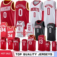 NCAA Russell Westbrook 0 Jersey de la universidad James Harden 13 jerseys Hakeem Olajuwon 34 7 Anthony jerseys del baloncesto 2019 cosido