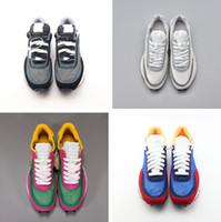 Com Caixa Novo Undercover x LDV Waffle Azul Verde Sapatos Casuais Branco Azul Amarelo Amarelo Mens Toki Slip Luxury Designer Sapatos
