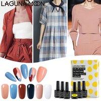 LED prego Lagunamoon 6Pcs Cor Gel Polish Set UV Semi Permanente Soak Off Varnish Laca Manicure Nail Art Gel Lak Polish