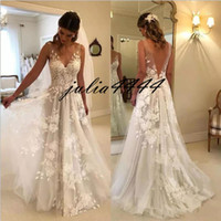 Sexy Wedding Dresses 2019 New With A- line Long V Neck Party ...