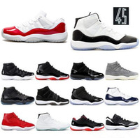 Concord 23 45 11 XI 11s Cap and Gown PRM Heiress Gym Red Chicago Platinum Tint Space Jams Uomini Scarpe da basket sportive Sneakers