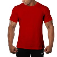 Mens Summer Solid Color Tshirts Crew Neck Short Sleeve Quick...