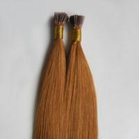 100g brasilianisches reines, keratingebundenes I-Tip-Haarverlängerungsprodukt 100% Remy European Natural Fusion Echthaarverlängerungen 100g Remy-Haar