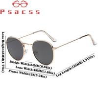 2020 Солнцезащитные очки Женщины / Мужчины Урожай Малый кадров Круглый Марка Дизайнер Металл ВС Очки lentes / Gafas де золь Hombre 3447