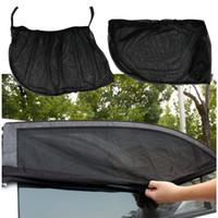 자동차 자동 창 측면 양산 자외선 보호 자동차 덮개 바이저 수호자 메쉬 자동차 스타일링 2pcs / lot