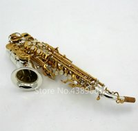 Yeni Varış Soprano Saksafon Pirinç Nikel Kaplama Vücut Altın Lake Anahtar B Düz Sax Ile Müzik Aletleri Müzik Aletleri Ağızlık