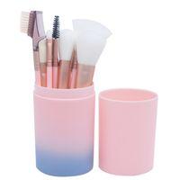 Trucco multifunzione spazzole di polvere Fondazione Ombretto Sopracciglio Ciglio di spazzola cosmetico di kit con la spazzola Barrel 12Pcs / set RRA1089