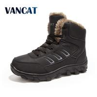 Vancat Yeni Süper Sıcak Erkekler Kış Çizmeler Erkekler için erkek botları Sıcak kar Ayakkabı 2018 Yeni erkek Ayak Bileği Kar Çizme artı boyutu 39-48