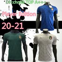 Player versão 20 21 ITALY terceiro Futebol 2020 2021 equipa nacional camisa camisa Itália Bonucci IMMOBILE INSIGNE Terceiro Futebol
