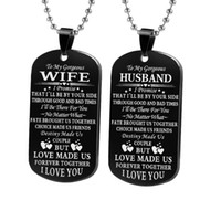 Fashion Classic Couple Necklace My Soulmate I Love You Woman...
