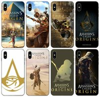 [TongTrade] Beliebte Assassins Creed Origins Logo-Fall für iPhone 11 Pro Max X XS 8s 7s 6s 5s Plus-Samsung A8 A9 Huawei Mate-20 LG K10 Fall