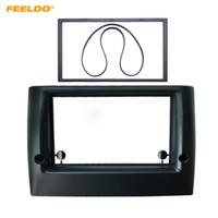 Marco adaptador FEELDO coche 2Din Radio Fascia para Fiat Stilo estéreo Panel de CD / DVD de audio Cara Instalación Dash Juego de acabados # 5203