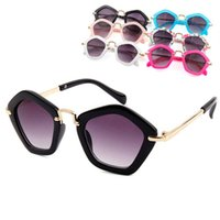 Children cute diamond frame sunglasses outdoors travel color...
