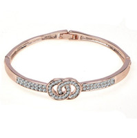 Hot Sale New Fashion Bracelet Double Loop With Crystal Cuff ...