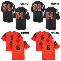 Custom Oregon State Beavers Qualquer nome Número Número preto Branco laranja costurada # 8 Trevon Bradford 81 Noah Togiai 2019 NCAA Football Jersey