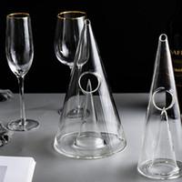 Creative Pyramide Cristal Verre à vin Decanter 350ml / 750ml cristal rouge vin Decanter fait à la main pour les outils vin Brandy Whisky Bar