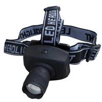 3 modos Zoomable de faro de alta luz Faro de pesca Faro a prueba de agua Torch Flashlight al aire libre Camping Portable Lámpara de cabeza VT0222