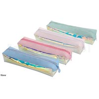 4styles лазерного карандаша для хранения сумки ручки канцелярского карандаша сумки дети студента подарок красочного прозрачного офис школьных принадлежности FFA2648