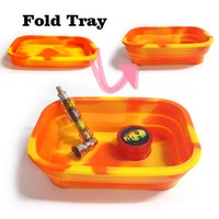 Silicone Fold Rolling Tray Papers Can Be Folded Mixed Colors...