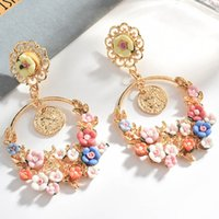 Fashion New Bohemian Color Multilayer Resin Pendant Earrings...