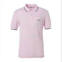 349b84322ef3d Tendência do verão camisa dos homens camisa POLO 2019 novo estilo levou manga  curta T shirt