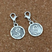 50Pcs / lots Double face Initial Alphabet Disc